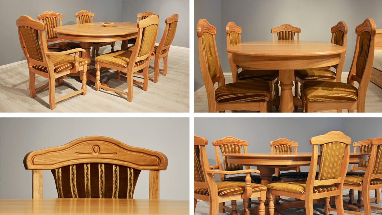 tölgyfa asztal székke fejér megye